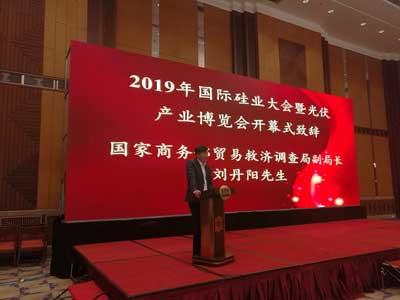 刘丹阳副局长出席2019年国际硅业大会并调研多晶硅产业