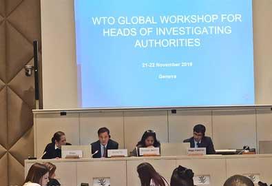 余本林局长参加世贸组织贸易救济调查机构负责人会议